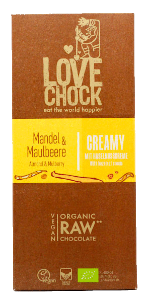 Organic Raw Chocolate Mandel & Maulbeere (lovechock)